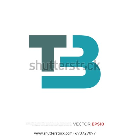 Pictograph of alphabet logotype letter b and t for icon, logo and identity designs Stock fotó ©