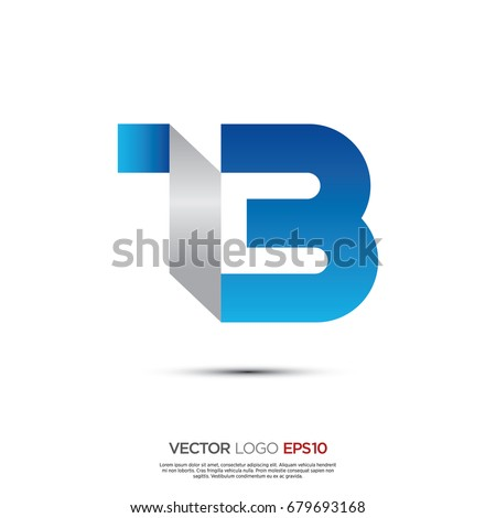 Pictograph of alphabet logotype letter T and B for icon, logo and identity designs Stock fotó ©