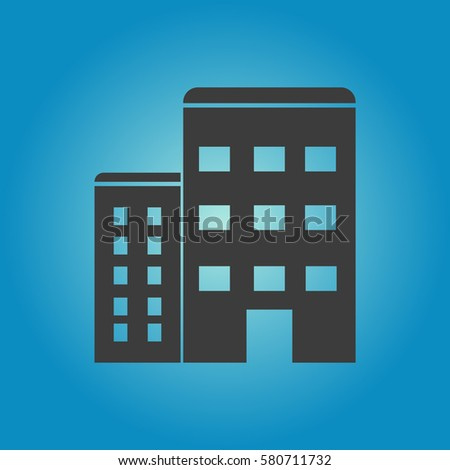 Pictograph of apartment icon. Flat vector illustration in black on white background.