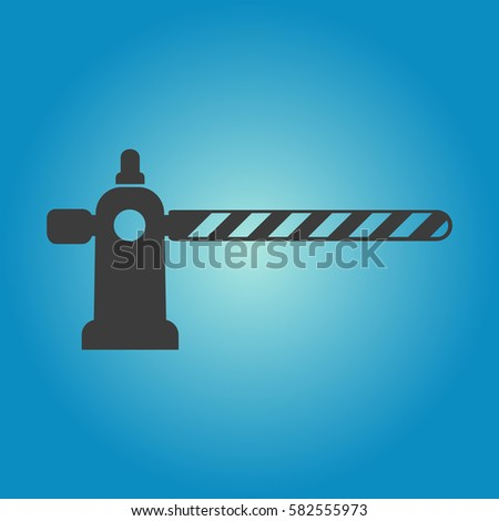 Pictograph of barrier gate. Flat vector illustration in black on white background.