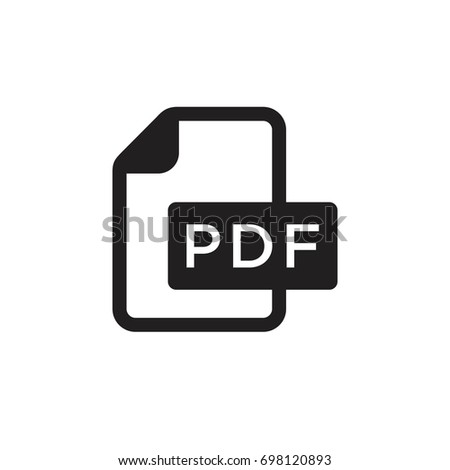 Pictograph of format file pdf  extension for template logo, icon, and identity vector designs