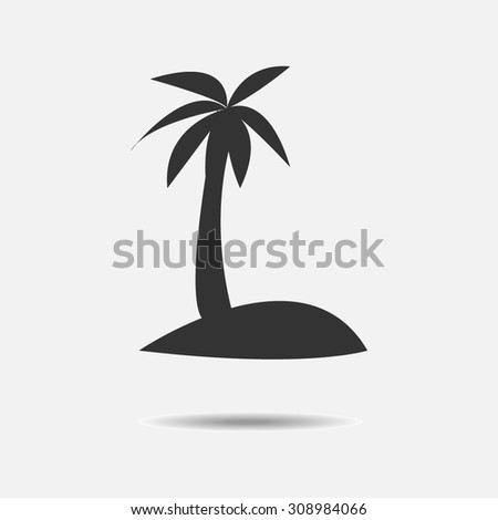 pictograph of island   vector