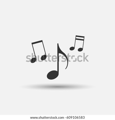 Pictograph of music note. Note icon. Vector illustration.