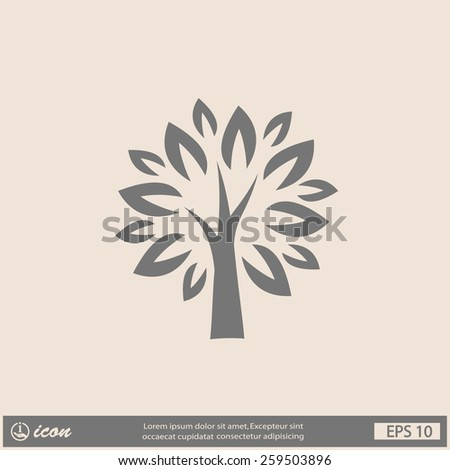 Pictograph of tree