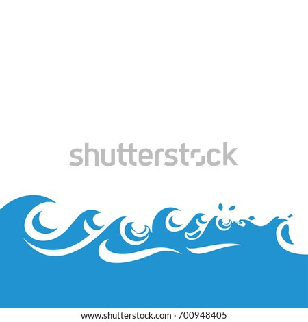 pictograph of waves blue ocean