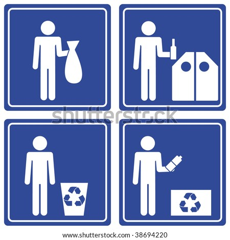 Pictograph - Recycle, male