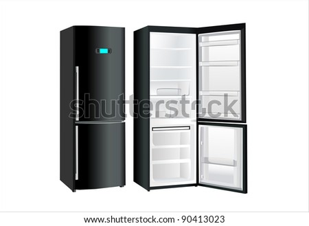 Picture a beautiful refrigerator on a white background