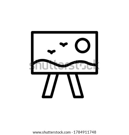 picture  art icon simple line