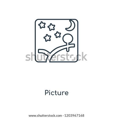 picture concept line icon