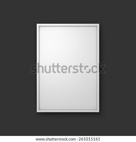 picture frame mockup 3d vector