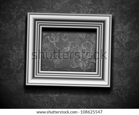 Floral frame silver background - Download Free Vector Art, Stock ...
