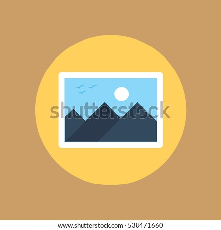 picture icon flat design