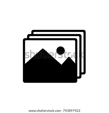 picture icon, picture icon vector, in trendy flat style isolated on white background. picture icon image, picture icon illustration