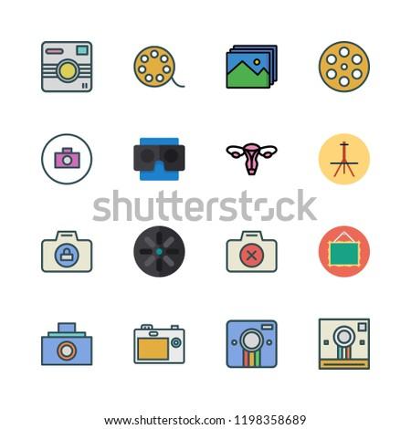 picture icon set vector set