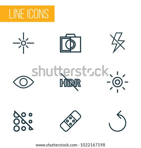 picture icons line style set