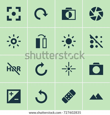 picture icons set collection