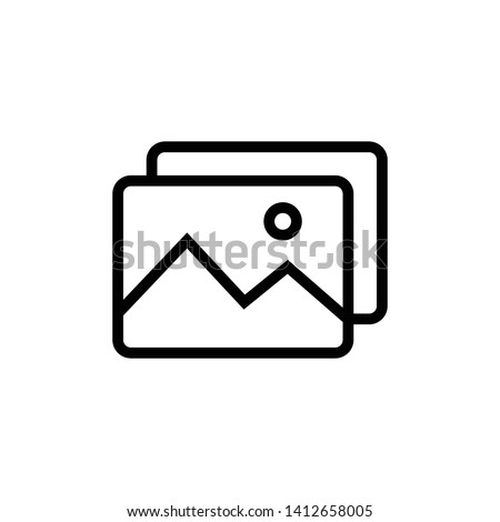 Picture Image Icon design template. Vector EPS 10