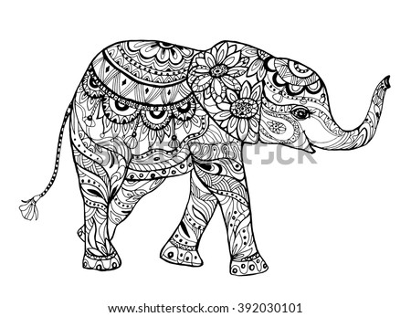 Picture In Coloring Bookelephant