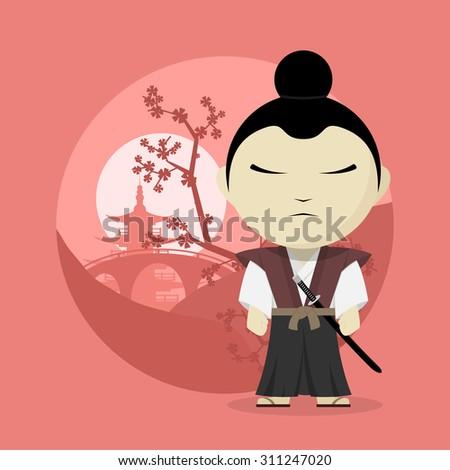 picture of a cartoon samurai