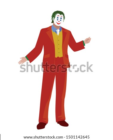 picture of a funny circus man