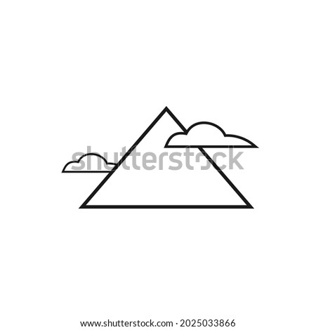 picture of a mountain and two