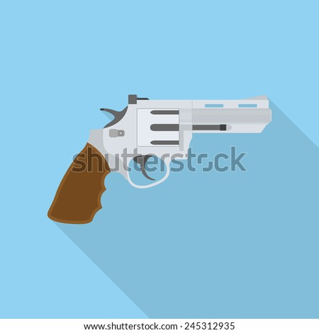 picture of a revolver  flat