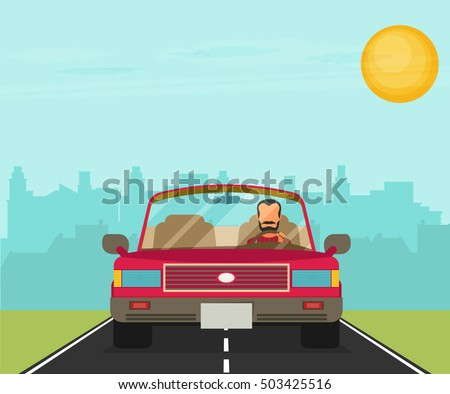 picture of car on the road with