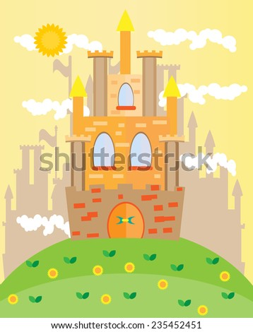 Picture of castle with towers on the hill
