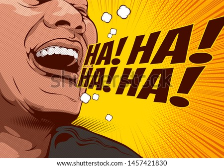picture of happy laughing man