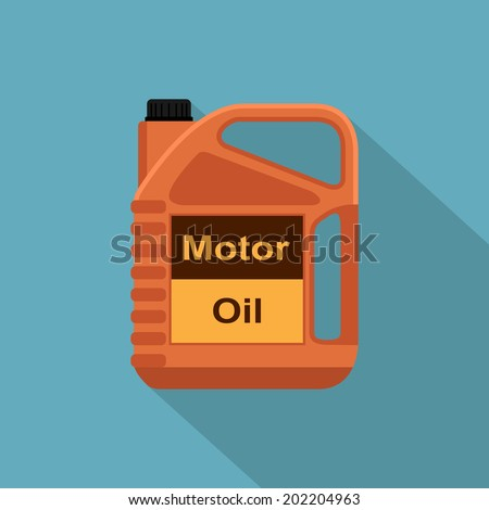 picture of motor oil tank, flat style icon