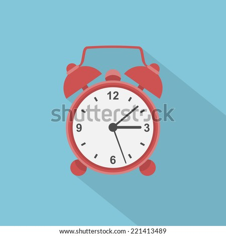 picture of red alarm clock