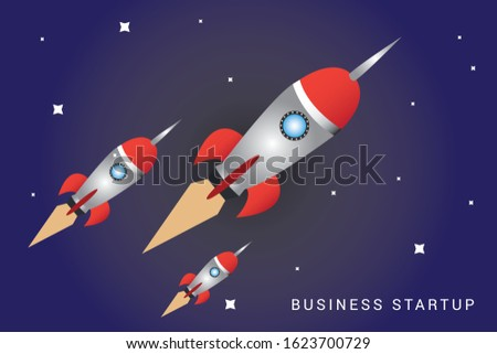 picture of rocket flying above