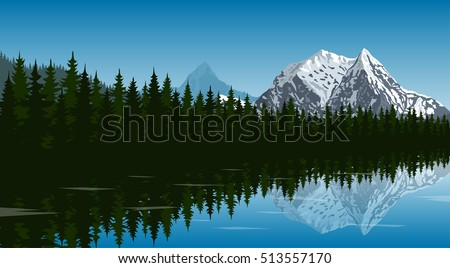 picture of the lake in the