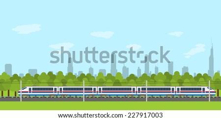 picture of train on railway