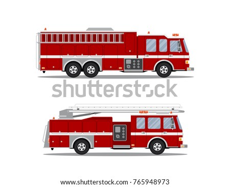 picture of two fire trucks