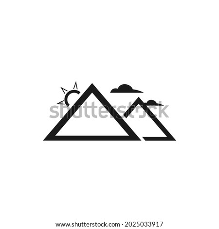 picture of two mountains with