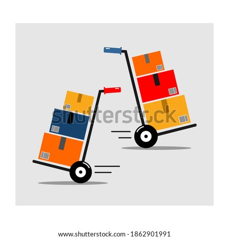 picture of two porters of goods Сток-фото ©