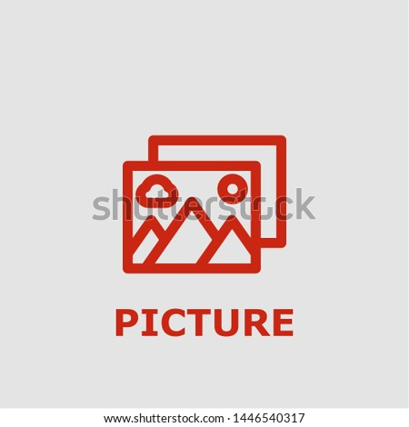 Picture symbol. Outline picture icon. Picture vector illustration for graphic art.