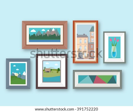 pictures gallery in frame on