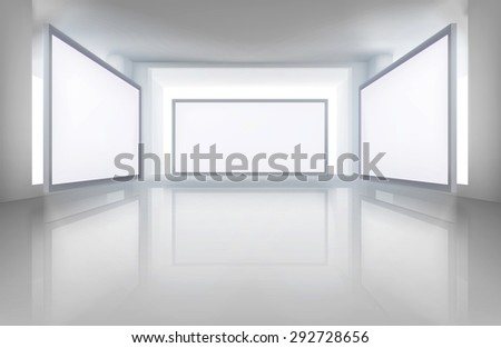 pictures in art gallery vector