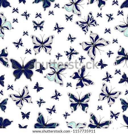 pictures in white  blue and