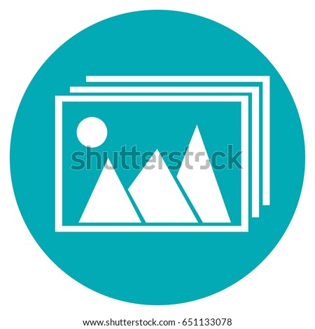 Pictures vector icon, image vector icon