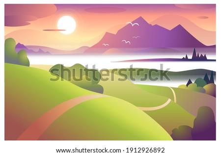 picturesque landscape with