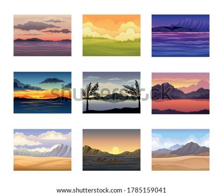 picturesque nature landscapes