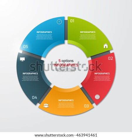Pie Chart Circle Infographic Template With 7 Options Business