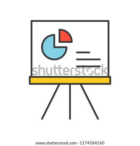 pie chart data report icon concept, editable stroke outline