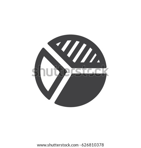 pie chart icon in black on a
