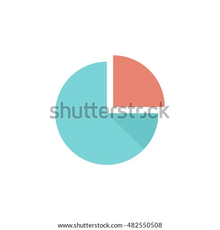 Pie Chart Icon In Flat Color Style Finance Report Money Data