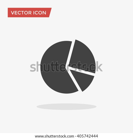 Pie Chart Icon in trendy flat style isolated on grey background. Graph symbol for your web site design, logo, app, UI. Vector illustration, EPS10.