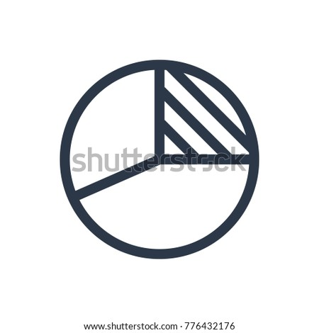 Pie chart icon. Isolated diagram and pie chart icon line style. Premium quality vector symbol drawing concept for your logo web mobile app UI design.